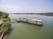 Dziejowy statek Radetsky w Danube rzece Obrazy Royalty Free