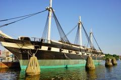 Dziejowy statek w Baltimore wewnętrznym schronieniu Obrazy Royalty Free
