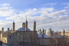 Dziejowy targowy budynek tashan w Erzurum obrazy royalty free