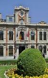 Dziejowy townhall w Albacete, Hiszpania - obraz stock