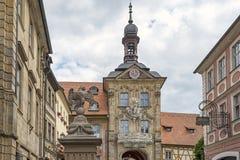 Dziejowy urząd miasta Bamberg, Niemcy fotografia royalty free