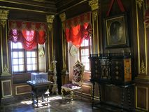 Dziejowy wnętrze w muzeum Obrazy Royalty Free