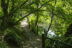 Dziekan wioski widoki w Edynburg mieście zdjęcia stock