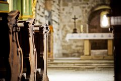 Dziekanowice, Church, Romance Royalty Free Stock Photos