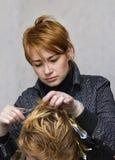 dzielenie fryzjerka włosów Fotografia Stock