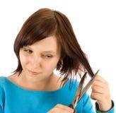 dzielenie włosy Fotografia Royalty Free
