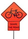 Dzieli drogowego znaka Zdjęcia Stock