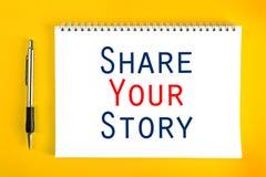 Dzieli Twój opowieści pojęcie Zdjęcia Royalty Free