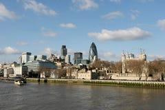 dzielnica biznesu London linia horyzontu Obraz Stock
