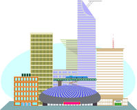 Dzielnica biznesu USA metropolia Fotografia Stock