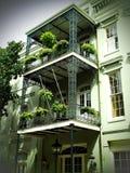 Dzielnica Francuska balkony w Nowy Orlean fotografia stock
