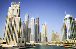 dzielnica miasta Dubai marina zdjęcie royalty free
