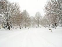 dzielnica śnieg Zdjęcia Royalty Free