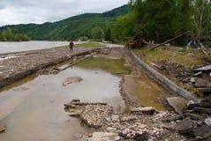 Dzielnicowa droga po powodzi Zdjęcia Stock