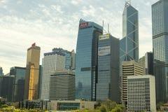 dzielnicy biznesu Hong kong Obrazy Royalty Free