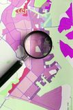 Dzielnicy miasta i miasteczka terenu planistyczny pojęcie Zdjęcie Royalty Free
