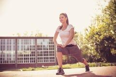 Dzienna rutyna Kobiety ćwiczenie zdjęcia stock