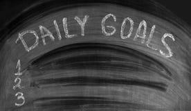DZIENNI cele pisać na używać blackboard Zdjęcia Royalty Free