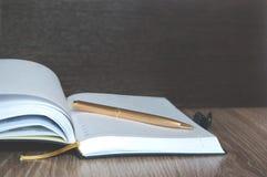 Dzienniczek lub notatnik dla myśli Fotografia Royalty Free