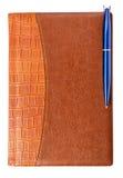 Dzienniczek z piórem Obrazy Stock
