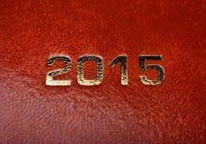 Dzienniczek zauważa agendę 2015 Obrazy Royalty Free