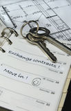 dzienniczka domowi kluczy plany Zdjęcie Stock