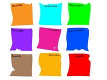 dzienniczka info papierowy pokojów tydzień Fotografia Royalty Free