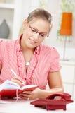 dzienniczka kobiety writing potomstwa Fotografia Stock