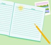 dzienniczka writing royalty ilustracja