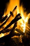 dziennik flarę wielki ogień fotografia royalty free