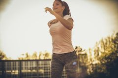 Dzienny ćwiczyć Sport kobieta zdjęcie royalty free