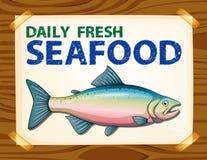 Dzienny świeży owoce morza ilustracji