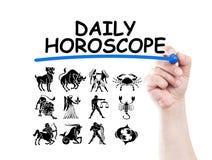 Dzienny horoskop zdjęcie stock
