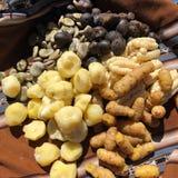 Dzienny jedzenie składać się z grule, kukurudze i fasole w, Peru i Boliwia Obrazy Royalty Free