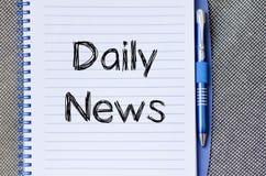 Dzienny wiadomości pojęcie na notatniku Zdjęcie Stock