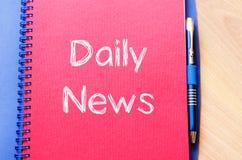 Dzienny wiadomości pojęcie na notatniku Zdjęcie Royalty Free