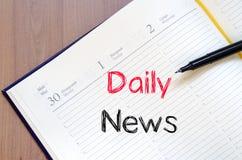 Dzienny wiadomości pojęcie na notatniku Obraz Stock