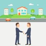 Dzierżawi Domową ilustrację Współpracujący spożycie i Podzielona gospodarka ilustracja wektor