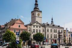 Dzierzoniow - eine Stadt in südwestlichem Polen lizenzfreies stockfoto