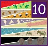 Dziesięć dżuma Zdjęcia Stock