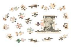 Dziesięć dolarów wyrzynarek Zdjęcie Stock