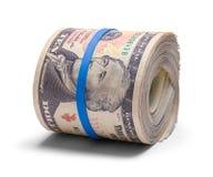 Dziesięć Dolarowa rolka zdjęcia stock