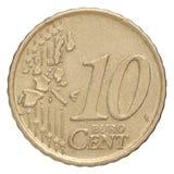 Dziesięć euro centów Zdjęcia Royalty Free