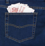 Dziesięć euro w twój kieszeni Zdjęcie Royalty Free