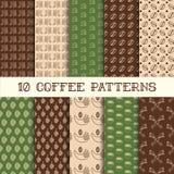 Dziesięć kawowych wzorów Obraz Royalty Free