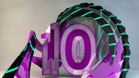 Dziesięć rok Aniversary Obrazy Stock