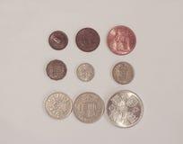 Dziesiątkowe GBP monety Obrazy Royalty Free