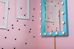 Dziewczęcy projekt pokój Obrazy Stock
