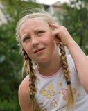 dziewczęcych 9 emocj Fotografia Royalty Free