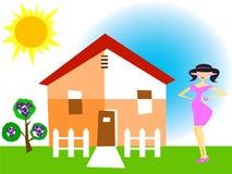 dziewczynę do domu ilustracji